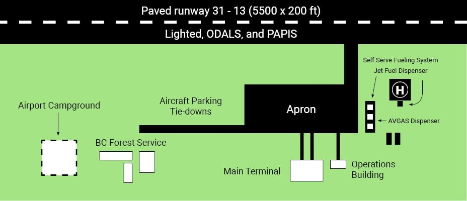 Quesnel Airport Layout
