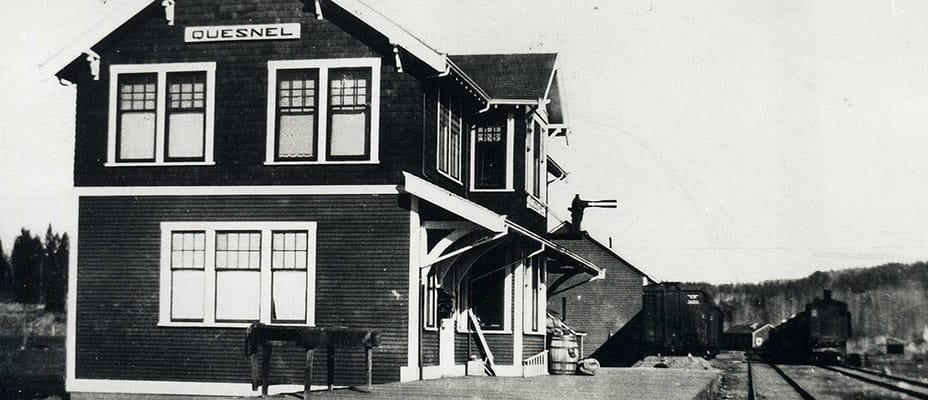 Historical photo of BC Rail station