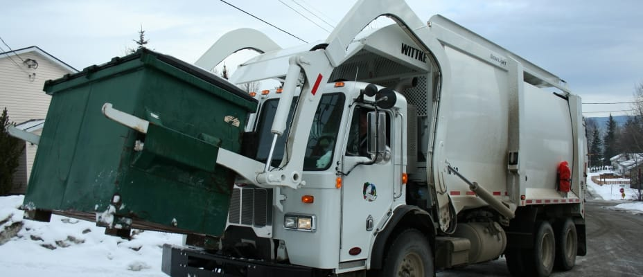 Quesnel commercial garbage truck