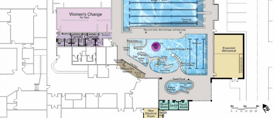 Main Floor Artis rendering of proposed pool upgrades