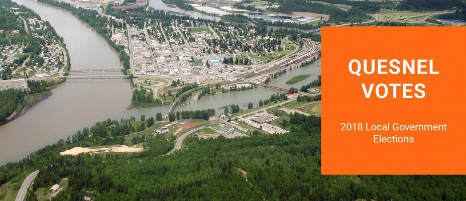 Image of Quesnel with text saying Quesnel Votes
