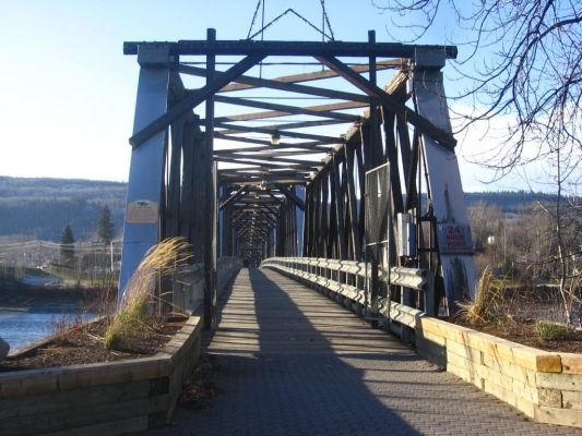 Fraser River Walking Bridge - View towards West Quesnel