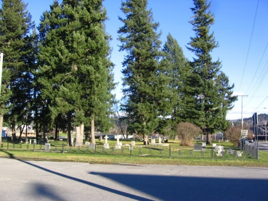 Quesnel Pioneer Cemetery - West Elevation