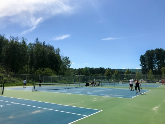 Quesnel tennis courts