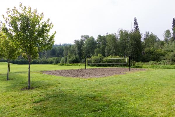 Quesnel beach volleyball court