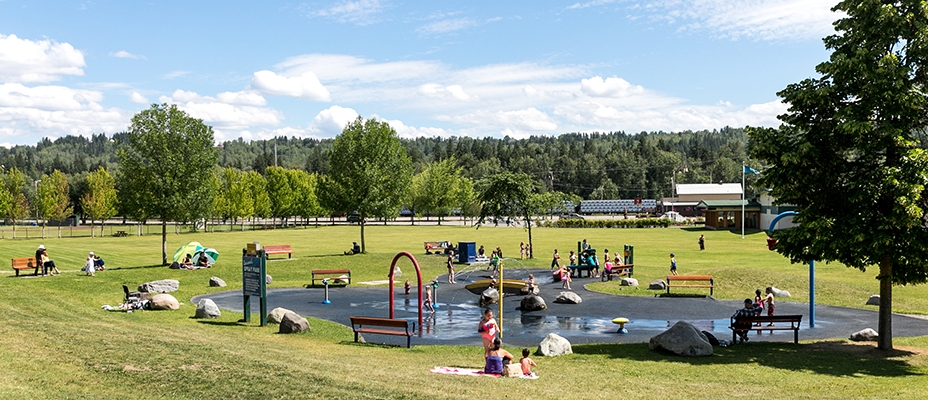 Kids playing in the spray park